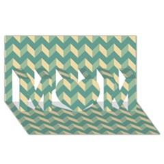 Modern Retro Chevron Patchwork Pattern Mom 3d Greeting Card (8x4)  by creativemom