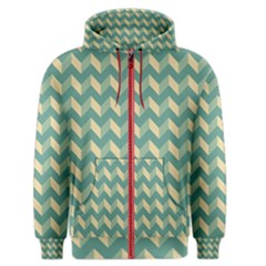 Modern Retro Chevron Patchwork Pattern Men s Zipper Hoodies by creativemom