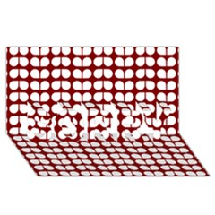 Red And White Leaf Pattern Sorry 3d Greeting Card (8x4)  by creativemom