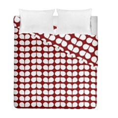 Red And White Leaf Pattern Duvet Cover (twin Size) by creativemom