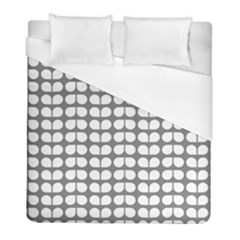 Gray And White Leaf Pattern Duvet Cover Single Side (twin Size) by creativemom