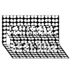 Black And White Leaf Pattern Congrats Graduate 3d Greeting Card (8x4)