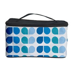 Blue Green Leaf Pattern Cosmetic Storage Cases by creativemom