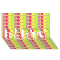 Colorful Leaf Pattern Party 3d Greeting Card (8x4)  by creativemom