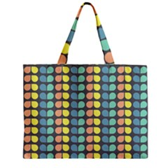 Colorful Leaf Pattern Zipper Tiny Tote Bags by creativemom