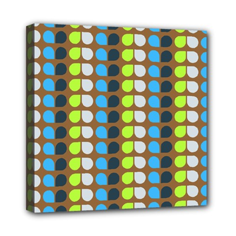Colorful Leaf Pattern Mini Canvas 8  X 8  by creativemom