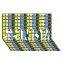 Colorful Leaf Pattern #1 Mom 3d Greeting Cards (8x4)  by creativemom