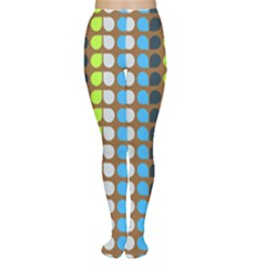 Colorful Leaf Pattern Women s Tights by creativemom