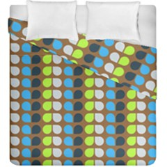 Colorful Leaf Pattern Duvet Cover (king Size) by creativemom