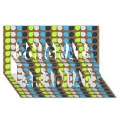 Colorful Leaf Pattern Congrats Graduate 3d Greeting Card (8x4)