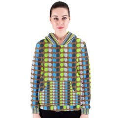 Colorful Leaf Pattern Women s Zipper Hoodies