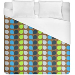 Colorful Leaf Pattern Duvet Cover Single Side (kingsize) by creativemom