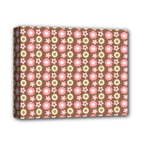 Cute Floral Pattern Deluxe Canvas 14  X 11  by creativemom