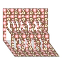 Cute Floral Pattern Work Hard 3d Greeting Card (7x5)  by creativemom