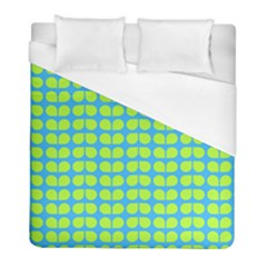 Blue Lime Leaf Pattern Duvet Cover Single Side (twin Size) by creativemom