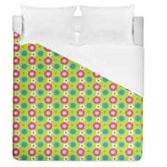 Cute Floral Pattern Duvet Cover Single Side (full/queen Size) by creativemom
