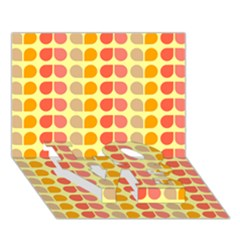 Colorful Leaf Pattern Love Bottom 3d Greeting Card (7x5)