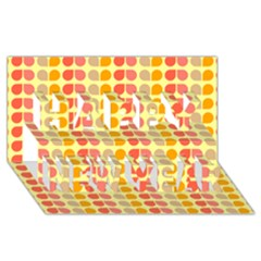 Colorful Leaf Pattern Happy New Year 3D Greeting Card (8x4)