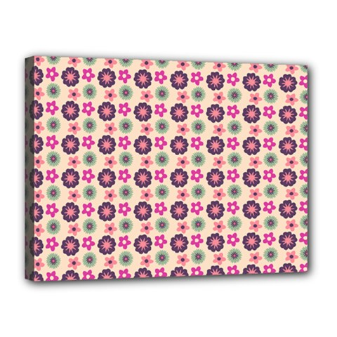 Cute Floral Pattern Canvas 16  X 12  by creativemom