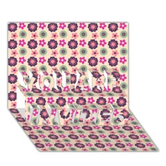 Cute Floral Pattern You Are Invited 3d Greeting Card (7x5)  by creativemom