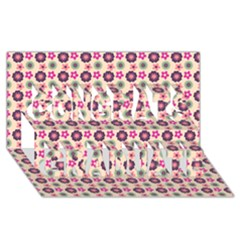 Cute Floral Pattern Congrats Graduate 3d Greeting Card (8x4)