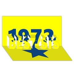 1972 Best Sis 3d Greeting Card (8x4)  by theunrulyartist