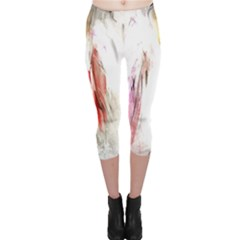 Abstract Angel In White Capri Leggings by theunrulyartist