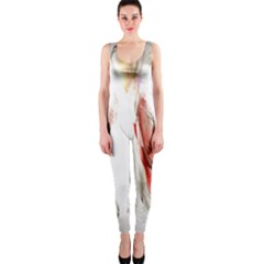 Abstract Angel In White Onepiece Catsuits by theunrulyartist
