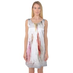 Abstract Angel In White Sleeveless Satin Nightdresses by digitaldivadesigns