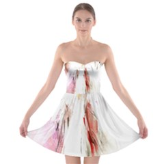 Abstract Angel in White Strapless Bra Top Dress by theunrulyartist