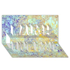 Abstract Earth Tones With Blue  Laugh Live Love 3d Greeting Card (8x4)