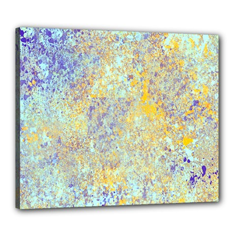 Abstract Earth Tones With Blue  Canvas 24  X 20  by theunrulyartist
