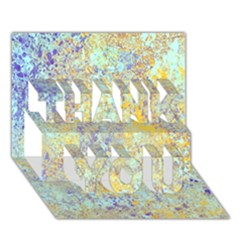 Abstract Earth Tones With Blue  Thank You 3d Greeting Card (7x5)  by theunrulyartist