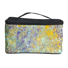 Abstract Earth Tones With Blue  Cosmetic Storage Cases by theunrulyartist
