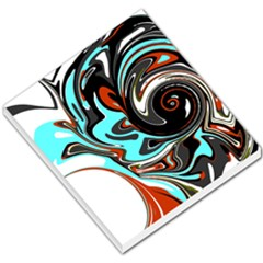 Abstract In Aqua, Orange, And Black Small Memo Pads