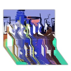 Abstract City Design You Did It 3d Greeting Card (7x5) by theunrulyartist