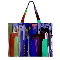 Abstract City Design Zipper Tiny Tote Bags