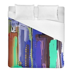 Abstract City Design Duvet Cover Single Side (twin Size) by theunrulyartist