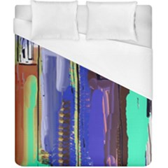 Abstract City Design Duvet Cover Single Side (double Size) by digitaldivadesigns