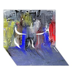 Hazy City Abstract Design Clover 3d Greeting Card (7x5)