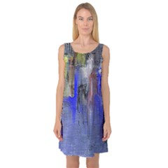 Hazy City Abstract Design Sleeveless Satin Nightdresses by theunrulyartist