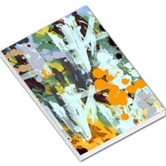 Abstract Country Garden Large Memo Pads