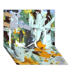 Abstract Country Garden I Love You 3d Greeting Card (7x5)  by theunrulyartist
