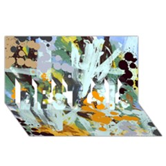 Abstract Country Garden Best Sis 3d Greeting Card (8x4)  by theunrulyartist