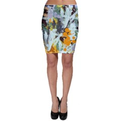 Abstract Country Garden Bodycon Skirts by theunrulyartist