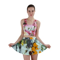 Abstract Country Garden Mini Skirts by theunrulyartist