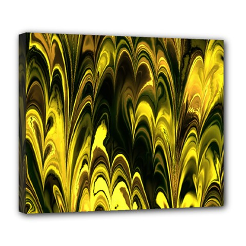 Fractal Marbled 15 Deluxe Canvas 24  X 20   by ImpressiveMoments
