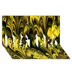 Fractal Marbled 15 Best Bro 3d Greeting Card (8x4)  by ImpressiveMoments