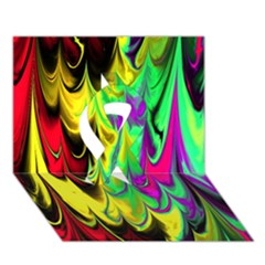 Fractal Marbled 14 Ribbon 3d Greeting Card (7x5)