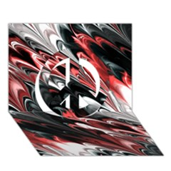 Fractal Marbled 8 Peace Sign 3d Greeting Card (7x5)
